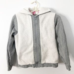 Hanna Andersson Sherpa Zip Up Jacket Size 10
